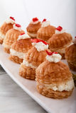 Arabic sweets. Sweet Lebanese Dessert Arabic Beirut cherry mille feuille royalty free stock photo