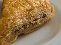 Arabic sweets. Traditional arabic/turkish sweets with walnuts - baklava Stock Image