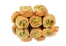 Arabic sweets on white Royalty Free Stock Image