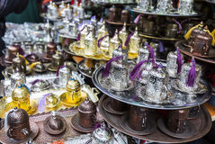 Arabic tea coffee set. An Aerabic set for coffee or tea Royalty Free Stock Image