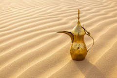 Arabic tea pot. On desert Royalty Free Stock Images