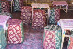 Arabic Tea Room, Various Armchairs With Many Colors, Typical Sty Stock Image