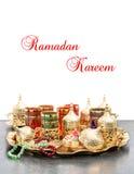 Arabic tea rosary Ramadan kareem Eid mubarak Stock Photos