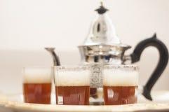 Arabic tea. Arabic traditional tea, green tea Stock Images