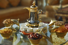 Arabic tea setup Stock Images
