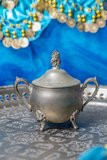 Arabic Teapot. Arabic is a teapot on a tray royalty free stock image