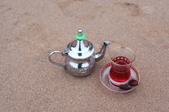 Arabic teapot with tea Hibiscus Royalty Free Stock Photo