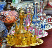 Arabic Teapots. For sale in Dubai Stock Image