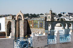 Arabic terrace. A typical old terrace at tunis in tunisia Royalty Free Stock Photography