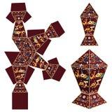 Ramadan paper lantern template. Arabic text : Generous Ramadan kareem  fanoos fanos fanous  isolated vector illustration paper lantern template . Cutout for vector illustration