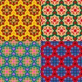 Arabic texture set. Ramadan seamless pattern. Islamic decorative Royalty Free Stock Photos