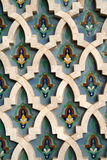 Arabic Tile Background. Detail of tiles on the Hassan II Mosque in Casablanca, Morocco Royalty Free Stock Photography