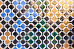 Arabic tile background. Alhambra of Granada. Royalty Free Stock Photography