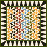 Arabic tile. Based on a design found in Alhambra of Granada, Spain. All elements sorted and grouped in layers stock illustration