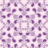 Arabic tile pattern. Floral symmetric oriental ornament Royalty Free Stock Photo
