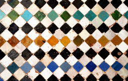 Arabic tiles background. Alhambra of Granada Stock Photo