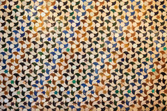 Arabic tiles background. Alhambra of Granada. Stock Images