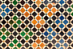 Arabic tiles background. Alhambra of Granada. Royalty Free Stock Images