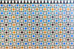 Arabic tiles background. Alhambra of Granada. Stock Photography