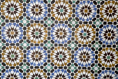 Arabic tiles Royalty Free Stock Photography