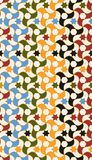 Arabic tiles seamless pattern. Based on a design found in Alhambra of Granada, Spain. All elements sorted and grouped in layers royalty free illustration