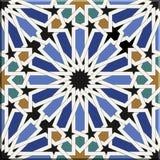 Arabic tiles seamless pattern. Seville, Spain. Royalty Free Stock Photos