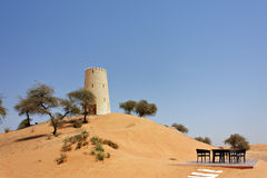 Arabic tower. In desert Emirates Royalty Free Stock Photography