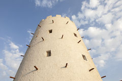Arabic tower in Abu Dhabi. Historic tower in the city of Abu Dhabi, United Arab Emirates Royalty Free Stock Photo