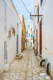 The arabic town. The old residential neighborhood of arabic Medina of Sousse, Tunisia Royalty Free Stock Photography