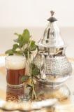 Arabic traditional rea. Arabic traditional tea, green tea Stock Photography