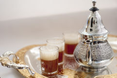 Arabic traditional tea. Moeoccan ment green tea, tradition Stock Photography
