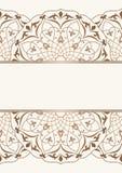 Arabic vintage invitation card royalty free illustration