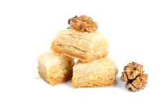 Arabic walnuts sweets Royalty Free Stock Photos