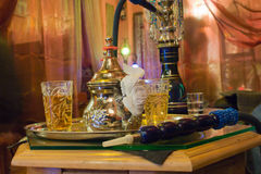 Arabic water pipe at Granada Royalty Free Stock Photo