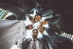Arabic and western business people. Portrait. Motivational concept Royalty Free Stock Image