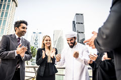 Arabic and western business people Stock Photo