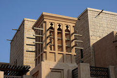 Arabic wind towers. Traditional Arabic house wind tower Royalty Free Stock Photo