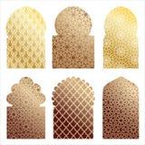 Arabic window illustrations Stock Photos