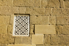 Arabic window and wall. Photo used as background Stock Photos