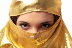 Arabic woman. Portrait of girl dressed in Arabian style Royalty Free Stock Photos