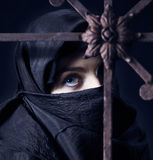 Arabic woman. The arabic woman in a black coverlet Royalty Free Stock Photography