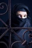 Arabic woman. The arabic woman in a black coverlet Stock Image