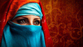Arabic woman. Young Arabic woman. Stylish portrait Stock Image