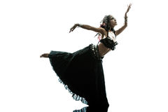 Arabic woman belly dancer dancing Royalty Free Stock Images