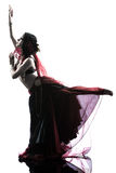 Arabic woman belly dancer dancing Royalty Free Stock Photography
