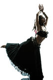 Arabic woman belly dancer dancing Royalty Free Stock Photos
