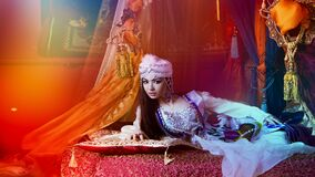 Arabic woman in traditional costume Stock Photography