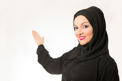 Arabic woman, traditional dressed. Isolated on the white background Stock Images