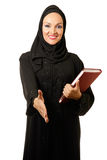 Arabic woman, traditional dressed smiling Royalty Free Stock Photography