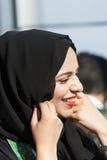 Arabic woman wearing hijab Stock Image